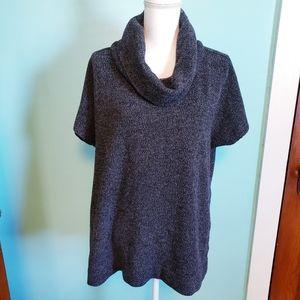 LOFT Knit Short Sleeves Soft Cowl Neck Sweater